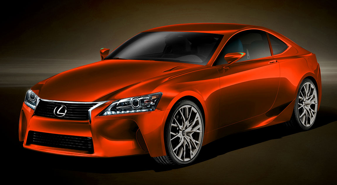 Next-Generation Lexus IS in Red