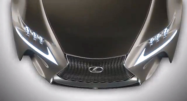 Lexus LF-CC Hood Top Down