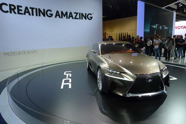 Lexus LF-CC Coupe Paris Motor Show Reveal
