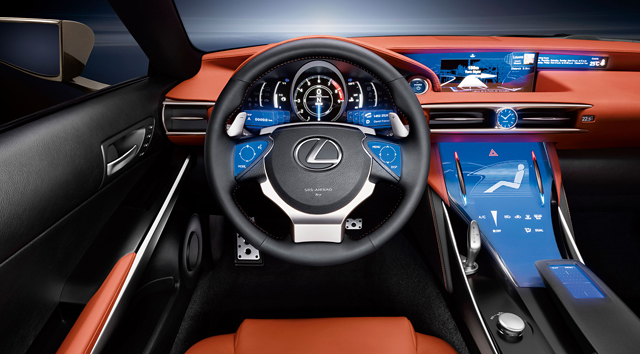 Lexus LF-CC Interior Steering Wheel