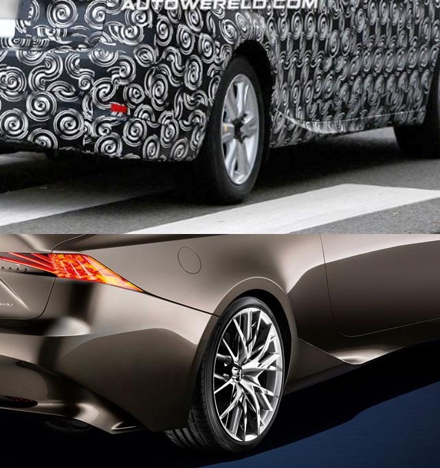 Lexus LF-CC vs IS Comparison
