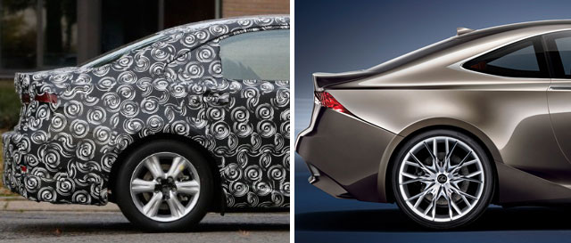 Lexus LF-CC vs IS Comparison