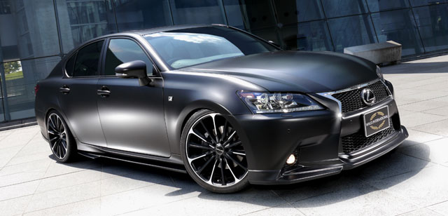 Matte Black Lexus GS Showcar