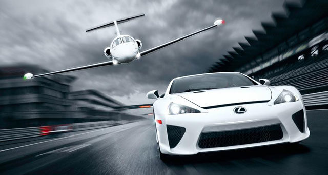 Lexus LFA vs Business Jet