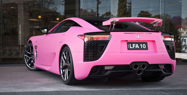 Pink Lexus LFA