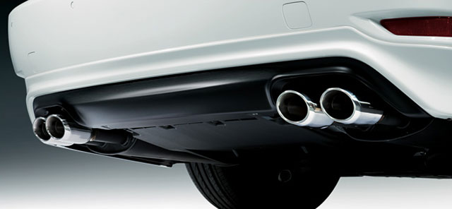 Lexus LS Quad Exhausts Modellista