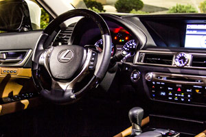 Lexus GS 350 AWD Interior at Night