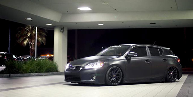 photo gallery  matte black lexus ct 200h