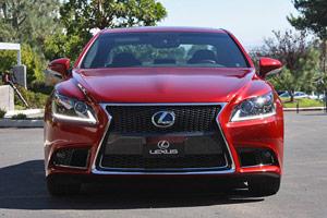 2013 Lexus LS F SPORT in Red