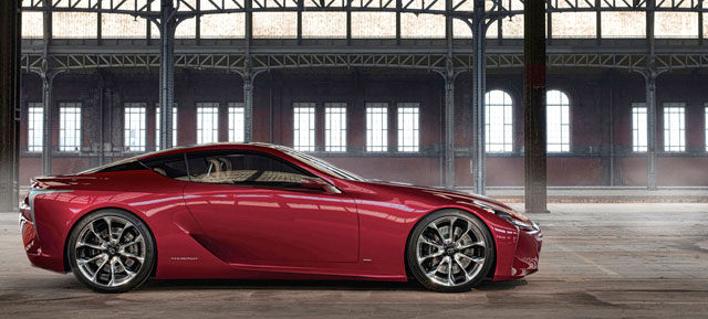Lexus LF-LC in Red