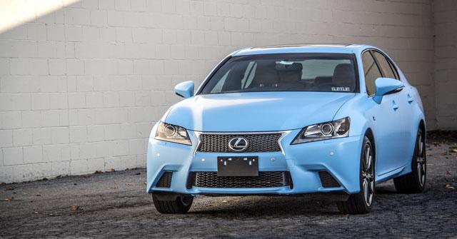 Lexus GS in Matte Sky Blue