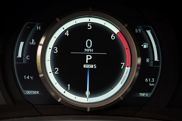 Next-Generation Lexus IS Instrument Panel