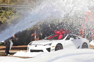 Lexus LFA Snow Day