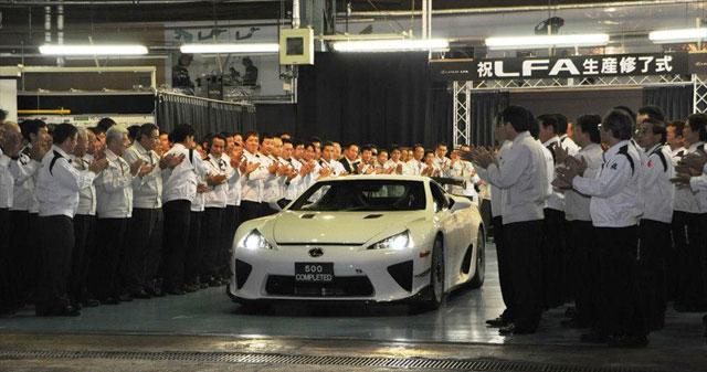 Lexus LFA #500 Ceremony