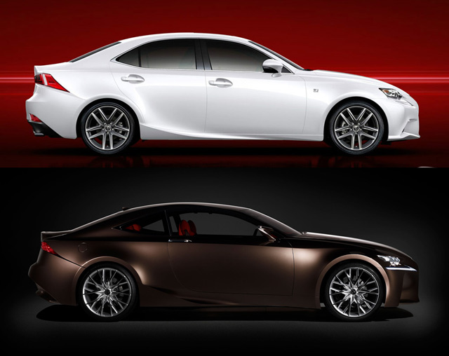 Lexus IS Compared to LF-CC