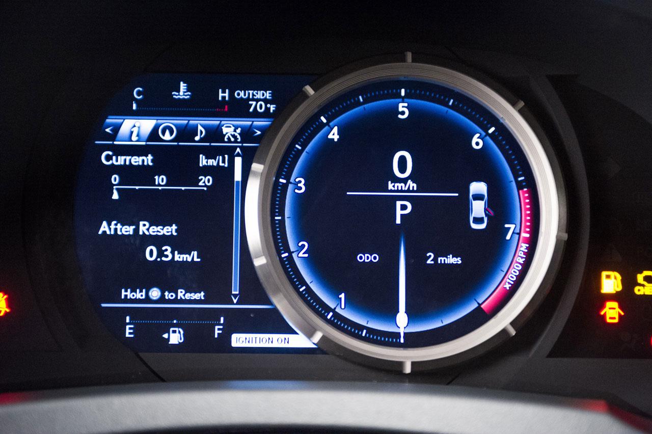 2014 Lexus Is Instrument Panel