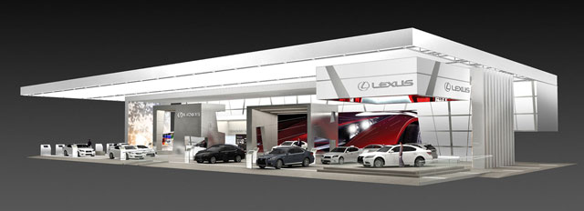 Lexus Exhibit at the Detroit Autoshow