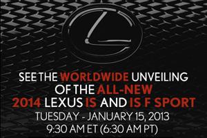 Lexus IS Debut on Facebook