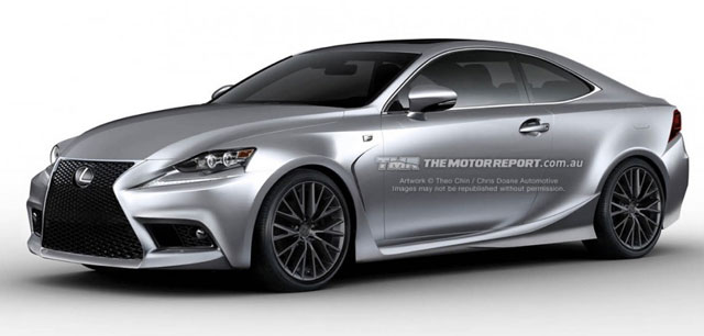 Lexus IS F Coupe Rendering Front