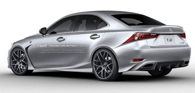 Lexus IS F Coupe Rendering Rear