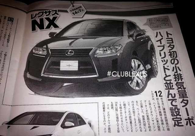 Lexus NX Compact Crossover Rendering