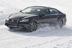Lexus GS F SPORT in the Snow