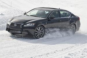 Lexus GS F SPORT in the Snow