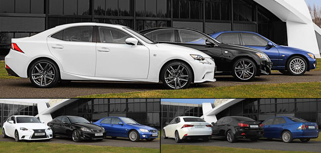 All three Lexus IS Generations together