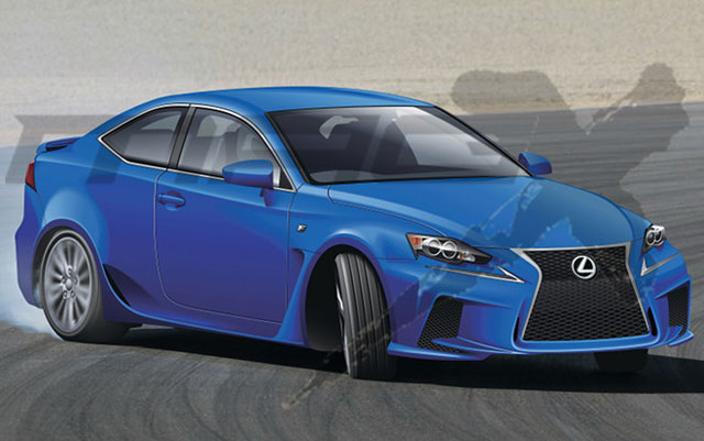 Lexus RC F Rendering by Mag-X