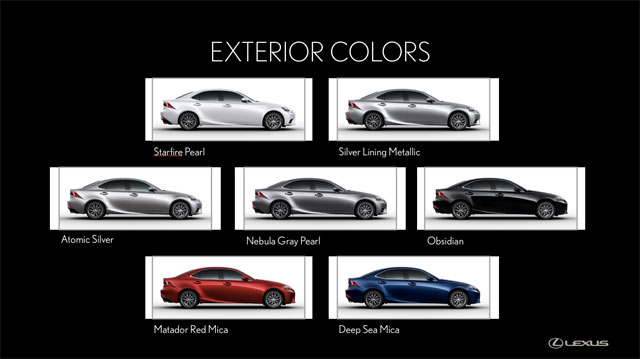 Lexus IS Exterior Colors