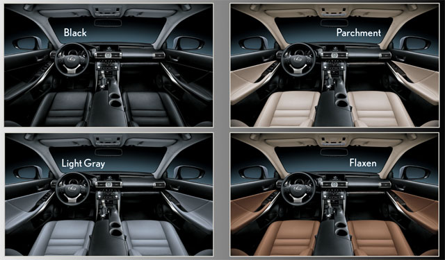 Lexus IS Interior Colors