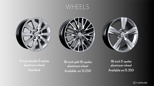 Lexus IS Wheel Options