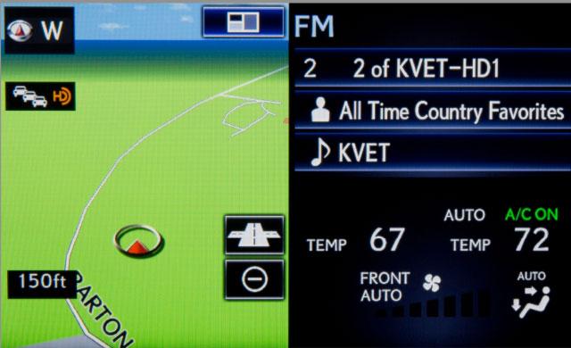 Lexus IS Customized Home Screen
