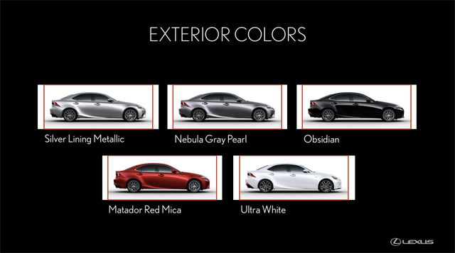 Lexus IS F SPORT Colors