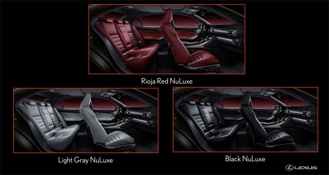 Lexus IS F SPORT Interior Colors