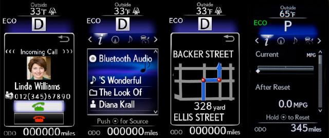Lexus IS Multi-Information Display