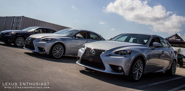 Lexus IS all in a row