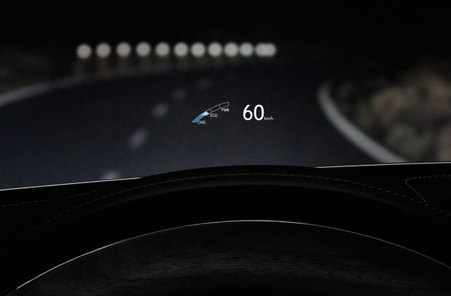 Lexus GS 300h Head-Up Display