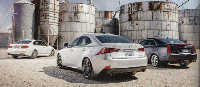 2014 Lexus IS F SPORT vs BMW 33i M SPORT vs Cadillac ATS