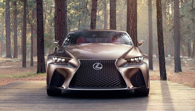 Lexus LF-CC in the forest