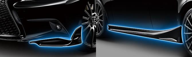 Lexus IS TRD Front Splitters & Side Skirts