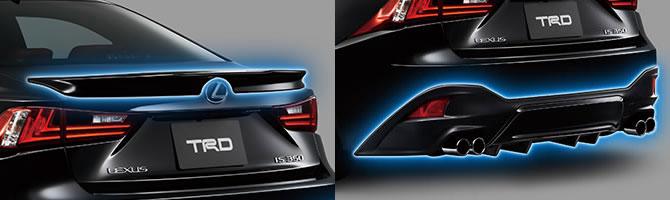 Lexus IS TRD Rear Spoiler, Muffler & Diffuser