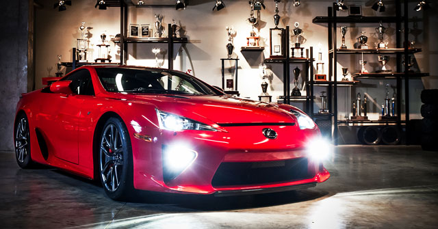 Lexus LFA with HID Fog Lamps