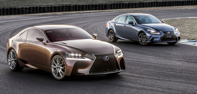 Lexus IS & LF-CC Concept together