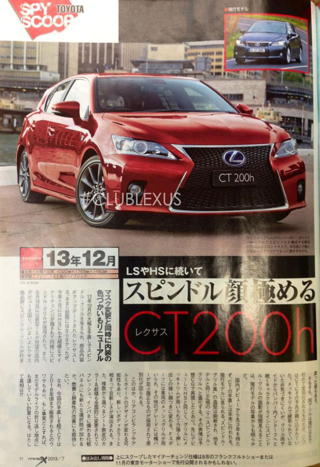 Lexus CT 200h 2014 Update Full Page