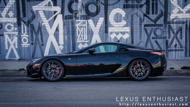 Lexus LFA Side Profile Los Angeles