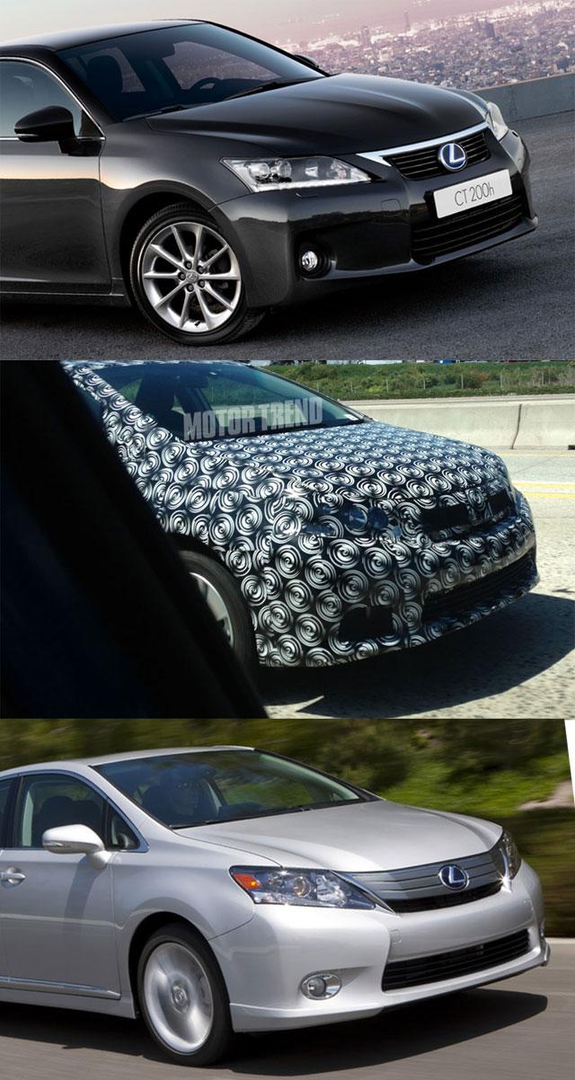 Lexus CT vs Mystery Prototype vs. HS 250h