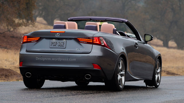 2014 Lexus IS Convertible Rear