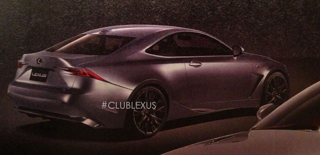 Lexus RC F Rendering Best Car Rear