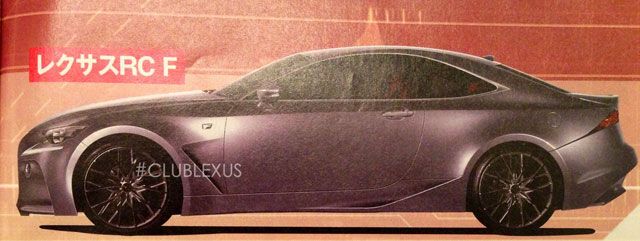 Lexus RC F Rendering Side Profile